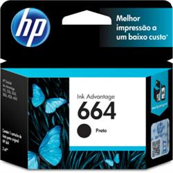 CARTUCHO HP 664 PRETO F6V29AB 2 ML*